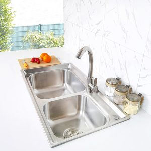 Creave topmount kitchen sink S-8143A1 side view