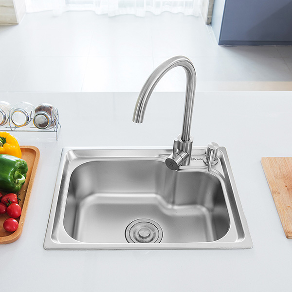 Topmount Single Bowl Sink | Topmount Single Basin Kitchen Sinks – CreaVe