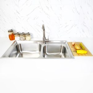 Creave topmount kitchen sink S-8143A1 front view
