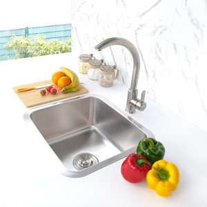 undermount stainless steel sink S-U4540 side view
