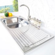creave single tray stainless steel sink S-10050SF side view