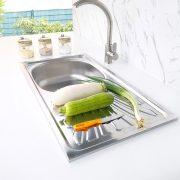 Topmount Kitchen Sink With Tray S-7540SA side view